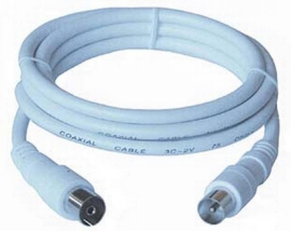 Imagine Cablu antena coaxial alb T-M 75 Ohm 20m