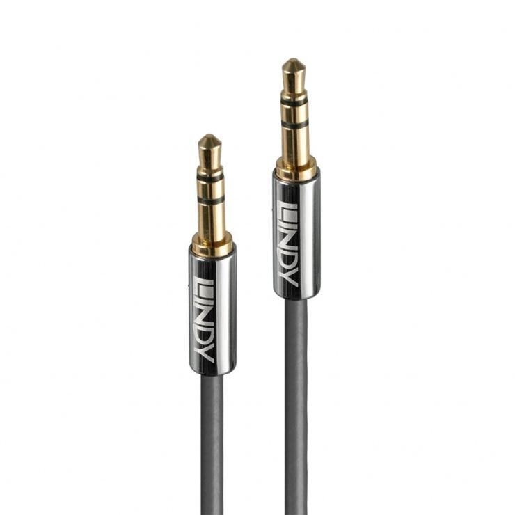 Imagine Cablu audio jack stereo 3.5mm CROMO LINE T-T 2m, Lindy L35322