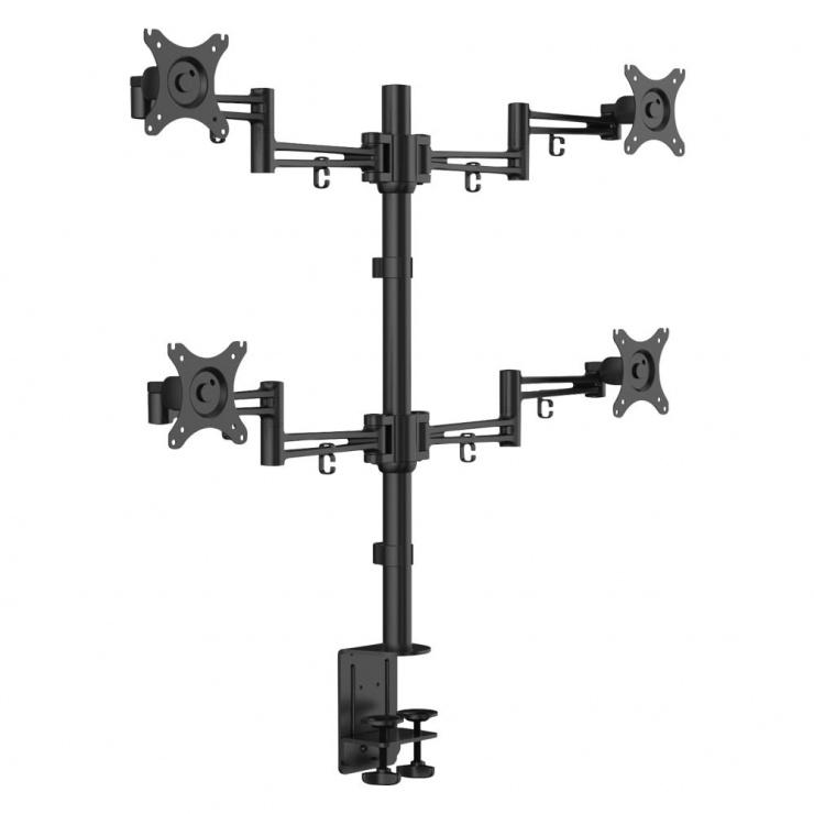 Imagine Suport 4 monitoare cu montare masa, Lindy L40967
