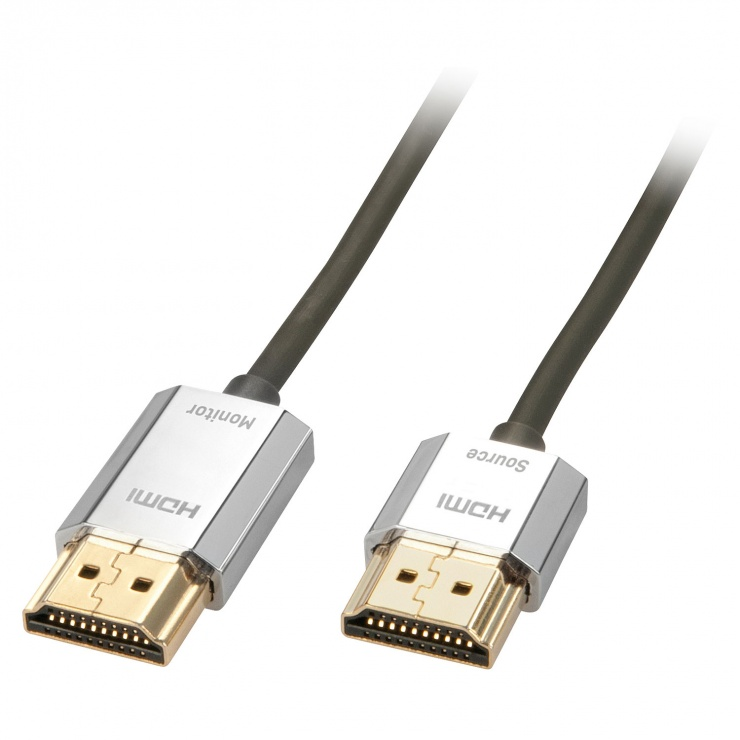 Imagine Cablu HDMI activ 4K 2.0 Premium CROMO Slim T-T 3m, Lindy L41675