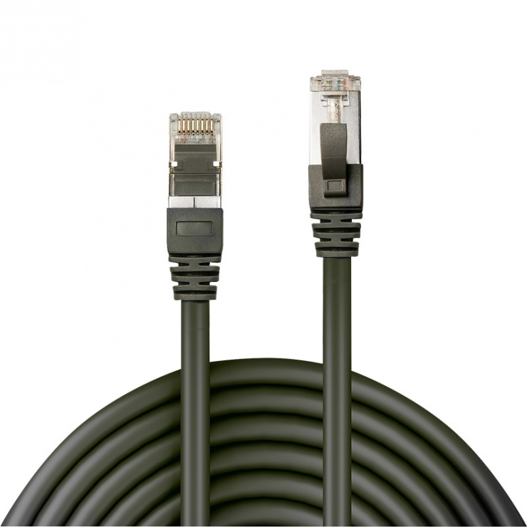 Imagine Cablu de retea SFTP CROMO cat 6 Snagless Antracit 0.5m, Lindy L47211-1