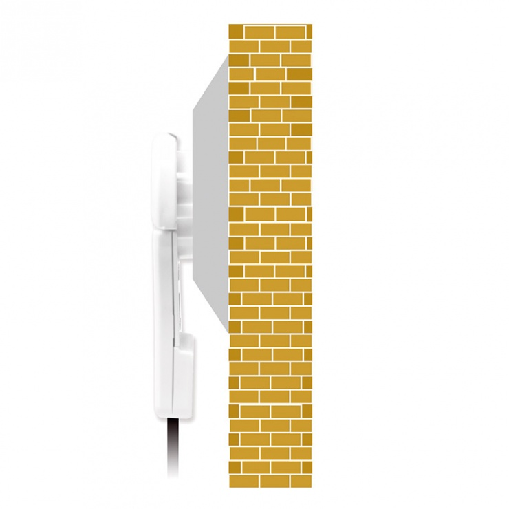 Imagine Priza Schuko 16A conector flat cu maner pliabil ergonomic Alb, Logilink LPS228-3