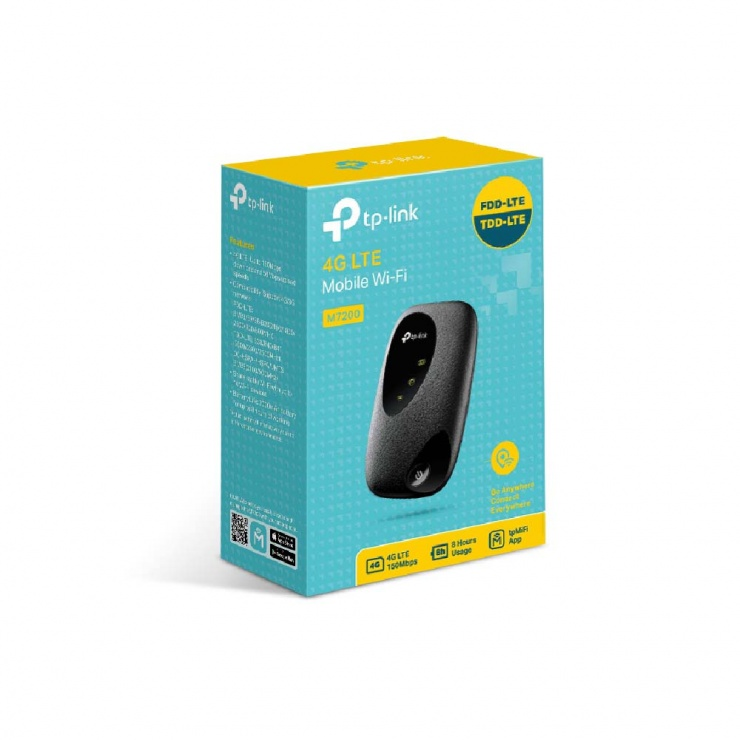 Imagine Router Wi-Fi 4G LTE portabil, TP-LINK M7200