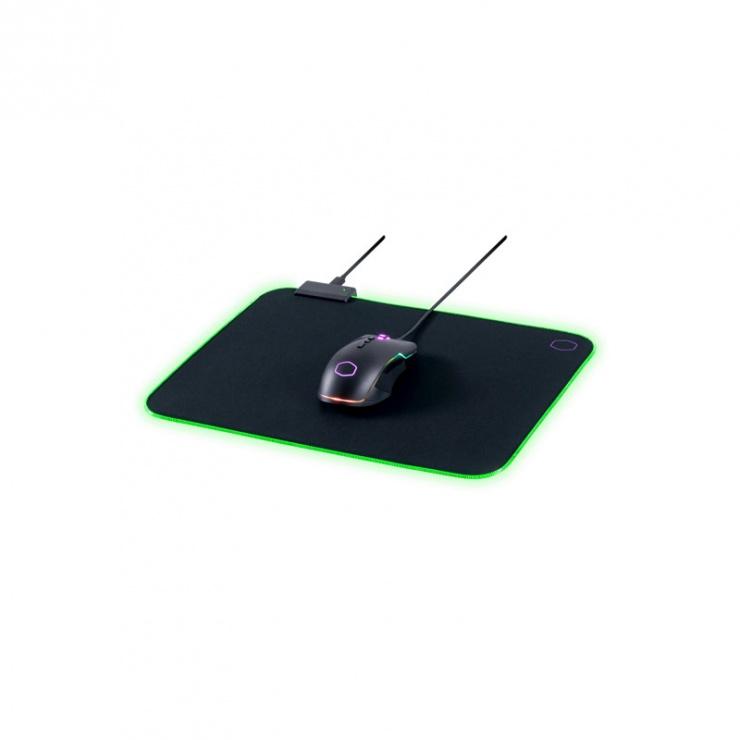 Imagine Mouse pad Gaming RGB 470 x 350 Negru & Mov, Cooler Master MPA-MP750-L -6