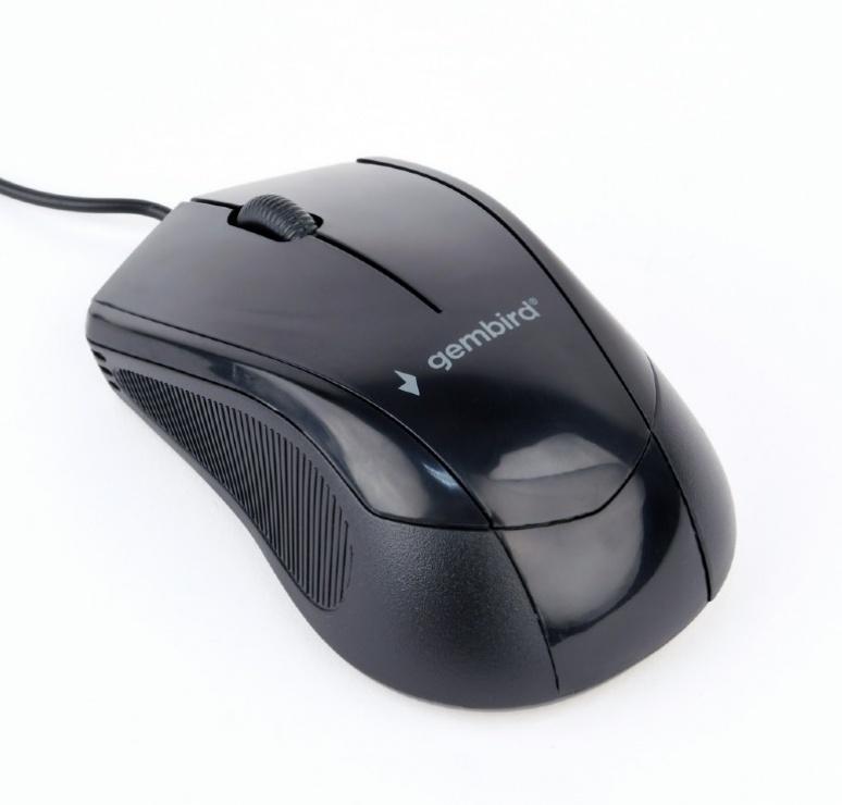 Imagine Mouse optic USB Negru, Gembird MUS-3B-02