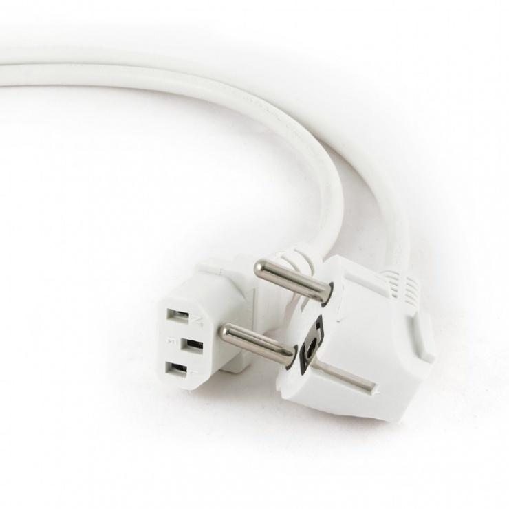 Imagine Cablu alimentare PC C13 1.8m Alb, Gembird PC-186W-VDE