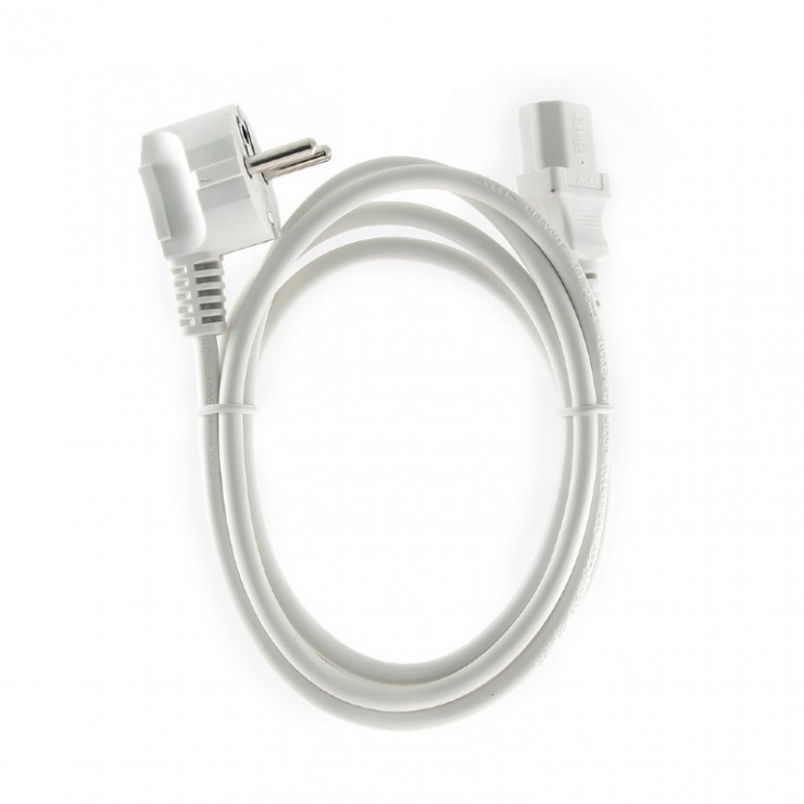 Imagine Cablu alimentare PC C13 1.8m Alb, Gembird PC-186W-VDE-1