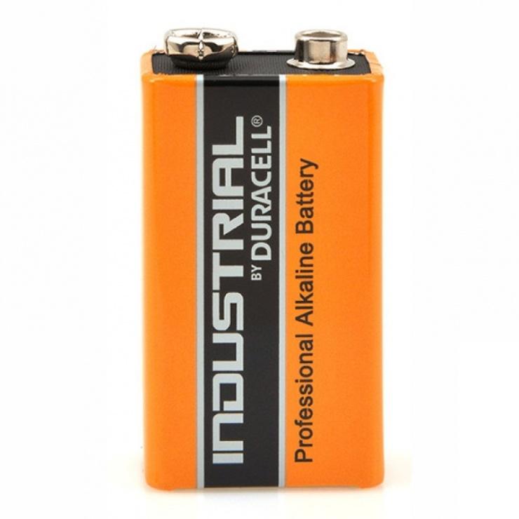 Imagine Baterie alcalina industriala 9V, Duracell