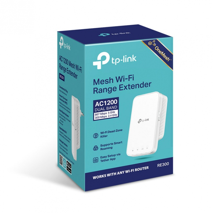 Imagine Range Extender Wi-Fi Mesh AC1200, TP-LINK RE300-7