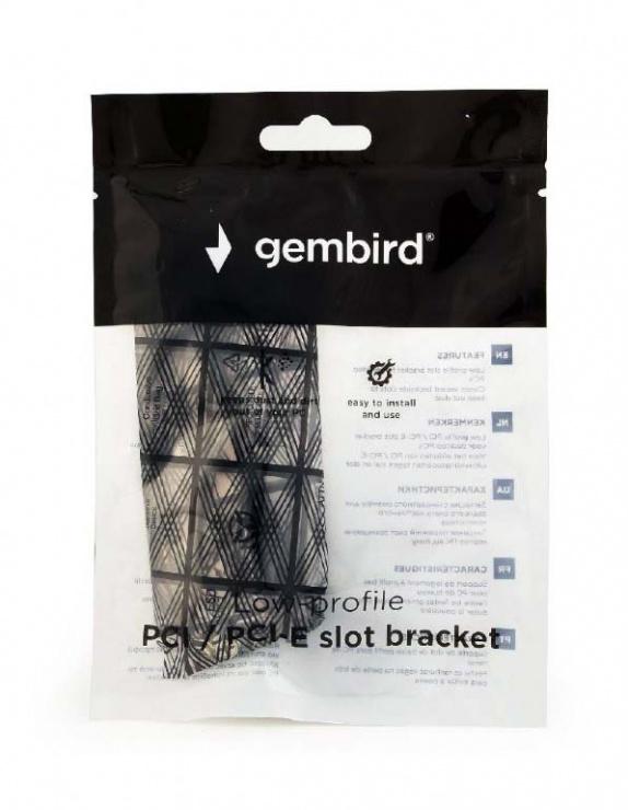 Imagine Set 3 bucati bracket Low profile PCI / PCI Express, Gembird SBL-01-2