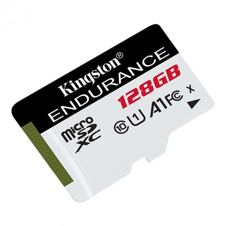 Imagine Card de memorie micro SDXC 128GB clasa 10 UHS-I High Endurance, Kingston SDCE/128GB-1