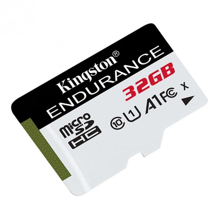 Imagine Card de memorie micro SDHC 32GB clasa 10 UHS-I High Endurance, Kingston SDCE/32GB-1