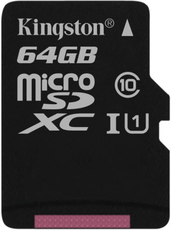 Imagine Card de memorie micro SDXC Canvas Select 64GB clasa 10, Kingston SDCS/64GBSP