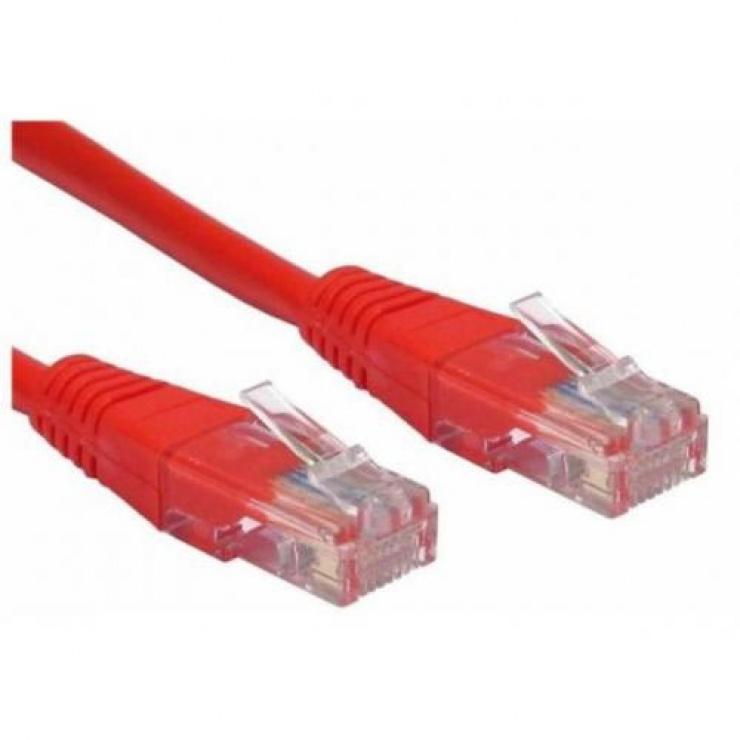 Imagine Cablu de retea UTP cat 5e 10m Rosu, Spacer SP-PT-CAT5-10M-R