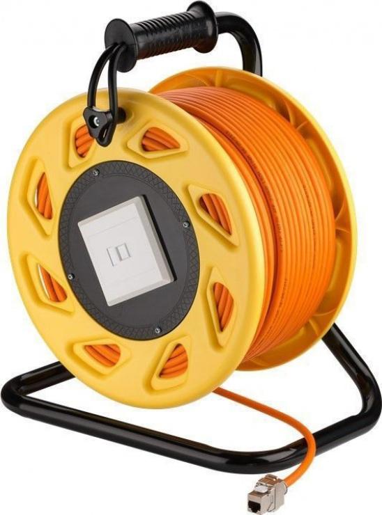 Imagine Rola cablu de retea prelungitor cat 7A SFTP LSOH 50m, Goobay 58934
