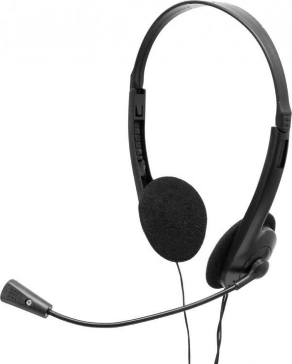 Imagine Casti cu microfon Negre, SPACER SPK-223