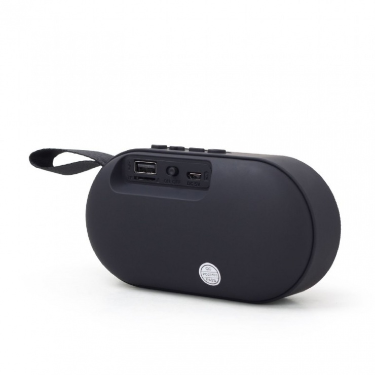 Imagine Boxa portabila Bluetooth Negru, Gembird SPK-BT-11-3