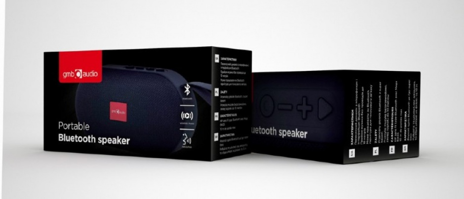 Imagine Boxa portabila Bluetooth Negru, Gembird SPK-BT-11-4