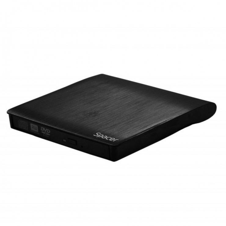 Imagine Rack extern USB 3.0 pentru unitatea optica CD/DVDROM 12mm, Spacer SPR-CD/DVD