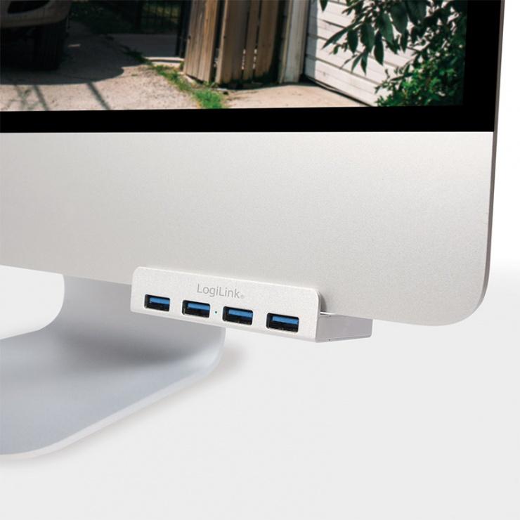 Imagine HUB USB 3.0 cu 4 porturi iMac Design, Logilink UA0300