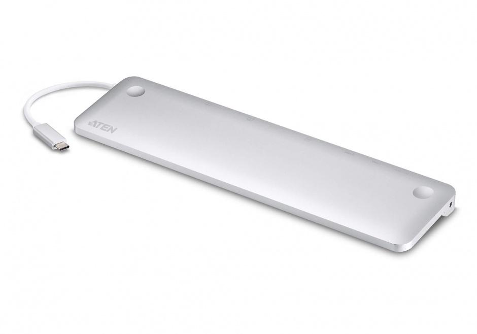 Imagine Docking station USB-C multiport (HDMI, VGA, Displayport, cititor de carduri, RJ 45) cu alimentare PD, ATEN UH3234