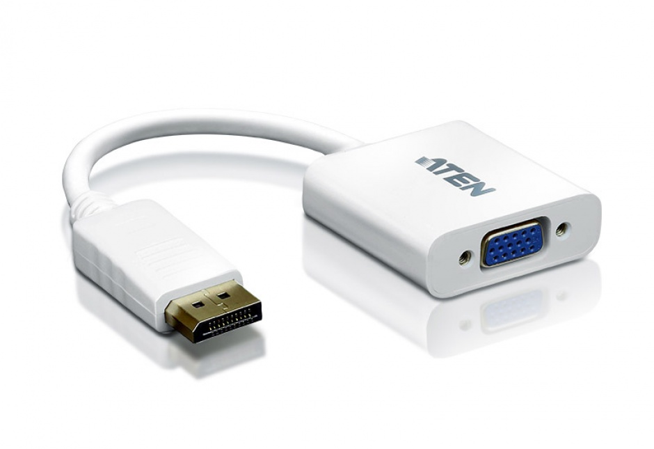 Imagine Adaptor Displayport la VGA T-M Alb, ATEN VC925