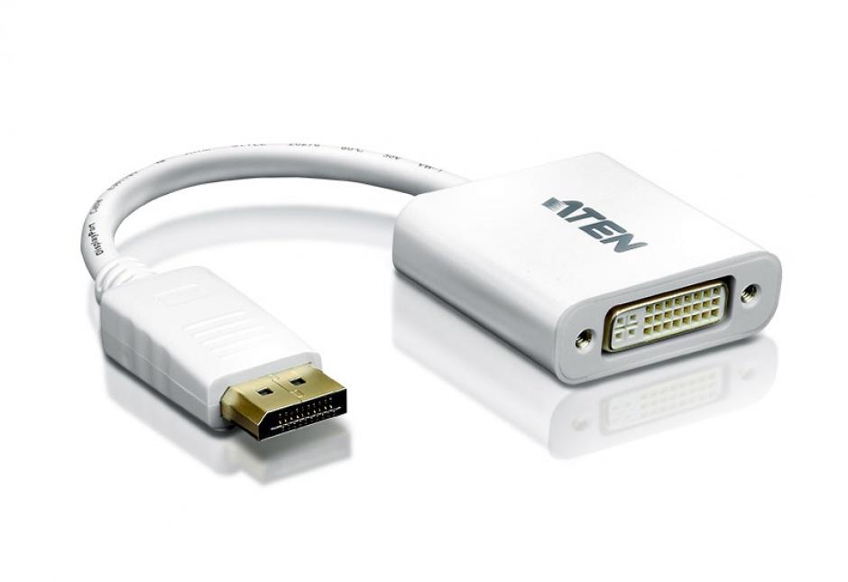 Imagine Adaptor Displayport la DVI T-M Alb, ATEN VC965