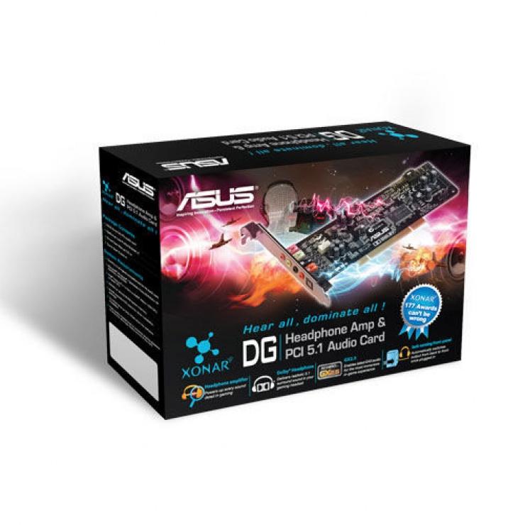 Imagine Placa de sunet Analog + Digital PCI, Asus XONAR_DG-2