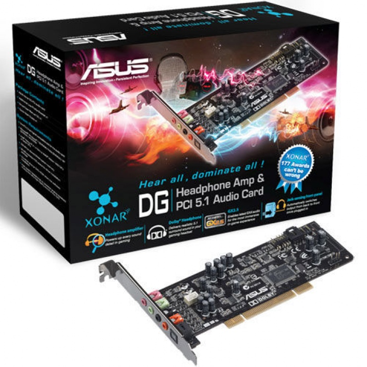 Imagine Placa de sunet Analog + Digital PCI, Asus XONAR_DG-3