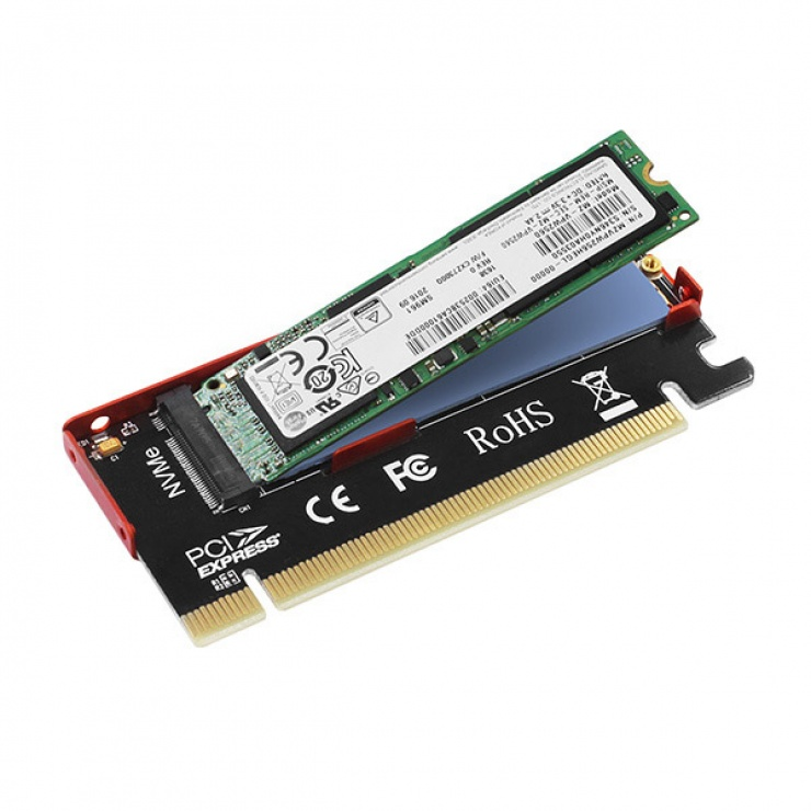 Imagine Adaptor PCI Express la M.2 NVME, Axagon PCEM2-S-4