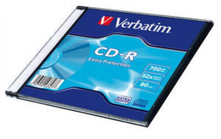 Imagine BLANK CD-R Verbatim 52X 700MB SINGLE SLIM CASE WRAP EXTRA PROTECTION