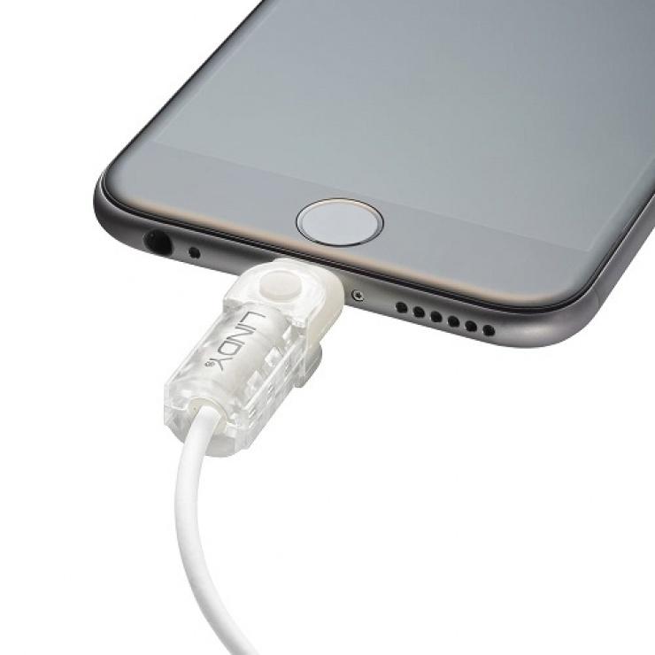Imagine Kit de protectie pentru interfata Lightning + USB-A transparent, Lindy L31385
