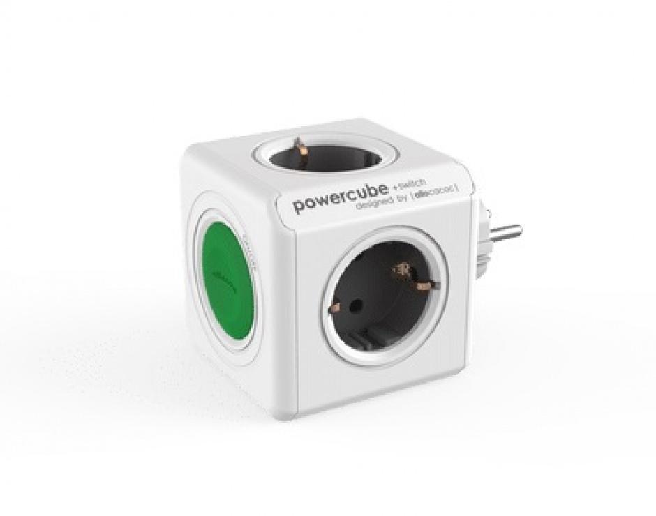 Imagine Prelungitor in forma de cub PowerCube Switch Original 4 prize cu switch, Allocacoc-1
