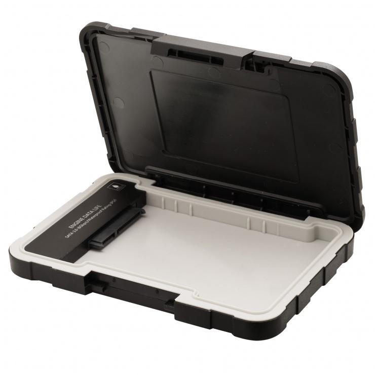 """Imagine Rack extern ED600 2.5"""" HDD SATA la USB 3.1, A-DATA AED600U31-CBK-3"""