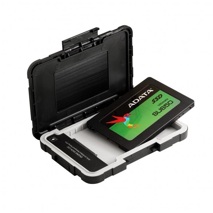 """Imagine Rack extern ED600 2.5"""" HDD SATA la USB 3.1, A-DATA AED600U31-CBK-4"""