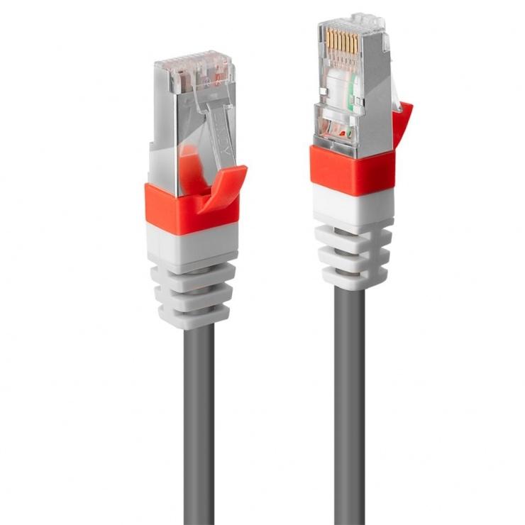 Imagine Cablu retea cat. 6A S/FTP LS0H Snagless 1m Gri, Lindy L45352