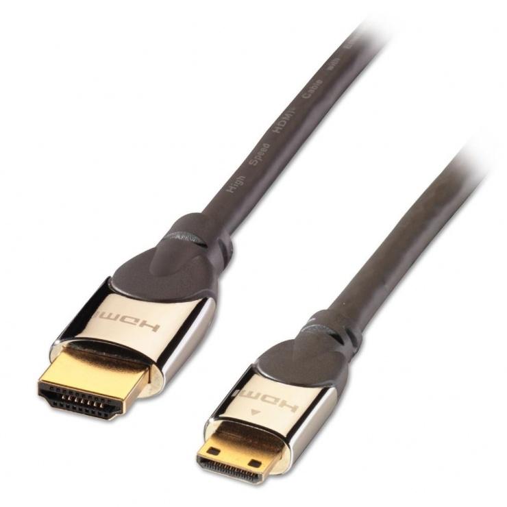 Imagine Cablu HDMI la mini HDMI-C v2.0 CROMO 0.5m, Lindy L41435