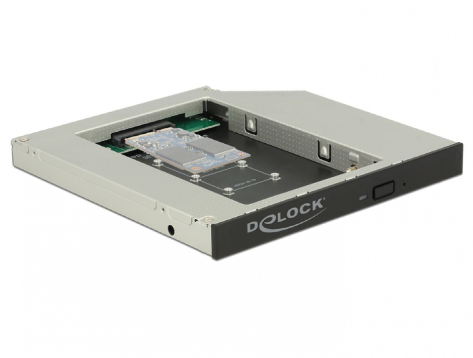 "Imagine Installation frame (caddy) Slim SATA 5.25"" pentru 1 x mSATA, Delock 62717"