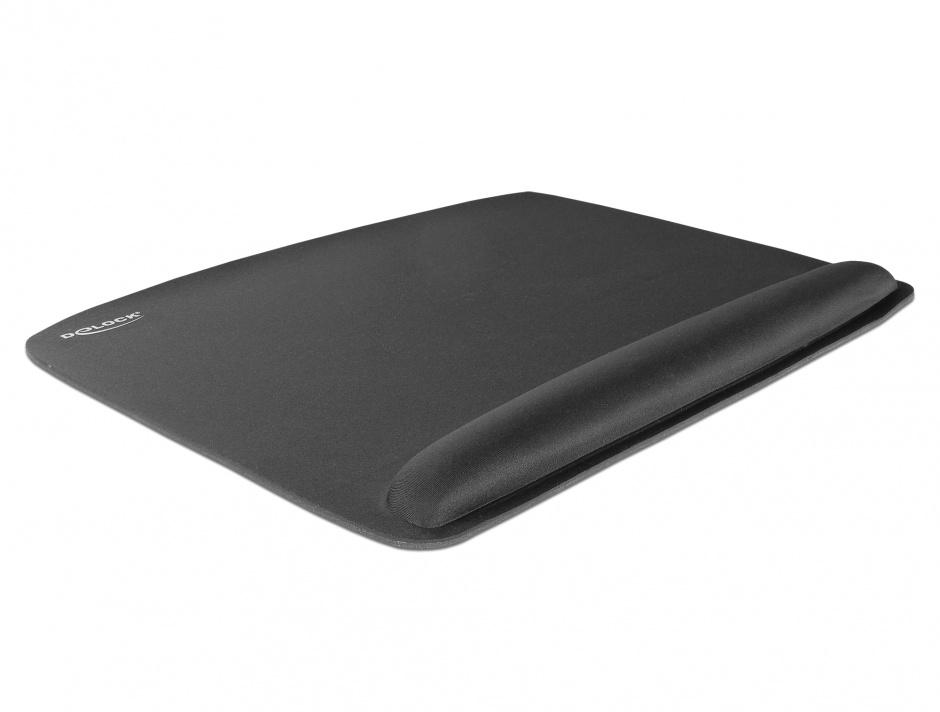 Imagine Pad ergonomic pentru mouse cu suport pentru incheietura mainii, Delock 12601