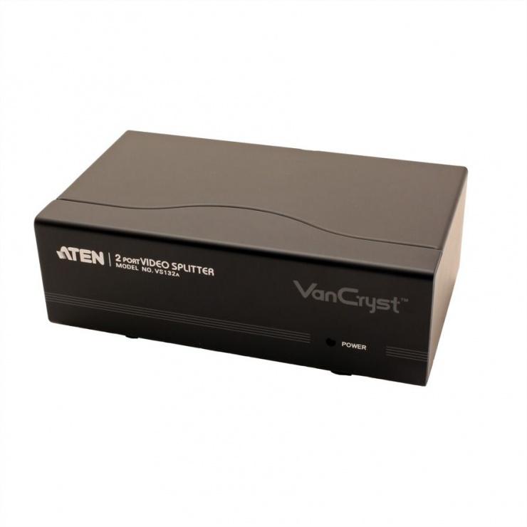Imagine Multiplicator VGA 2 porturi, 450Mhz, ATEN VS132A-2