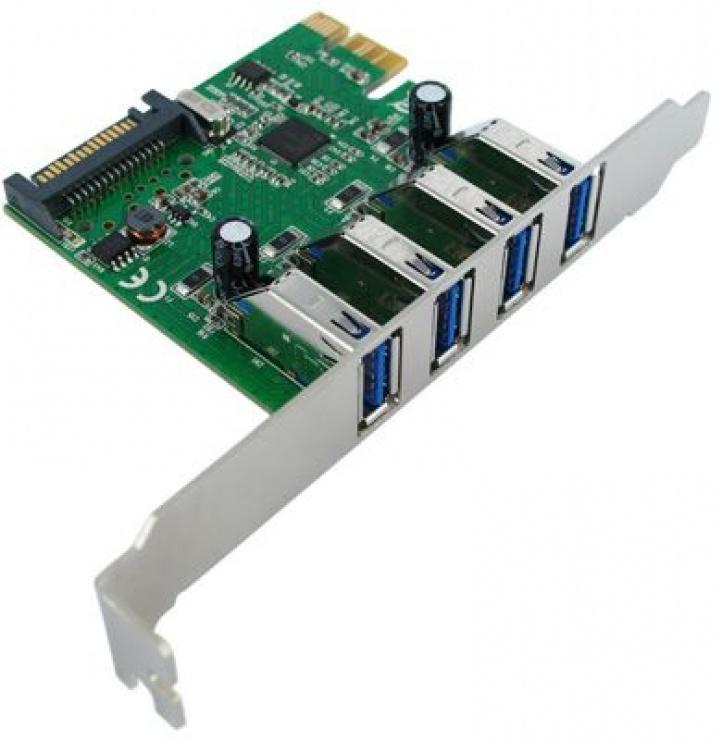 Imagine PCI Express cu 4 x USB 3.0, Value 15.99.2115