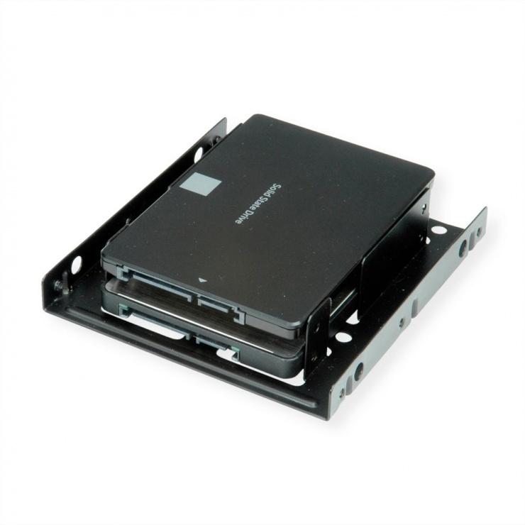 "Imagine Adaptor pentru 2 x SSD/HDD 2.5"" in bay de 3.5"", Roline 16.01.3008"