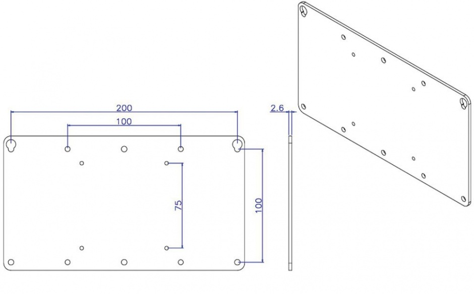 Imagine Adaptor VESA 75x75 la 100x100/100x200 Gri, Value 17.99.1110-1