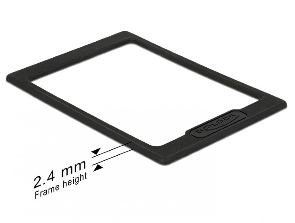 "Imagine Extensie pentru inaltimea HDD/SSD-ului 2.5"" de la 7mm la 9.5mm, Delock 18216"