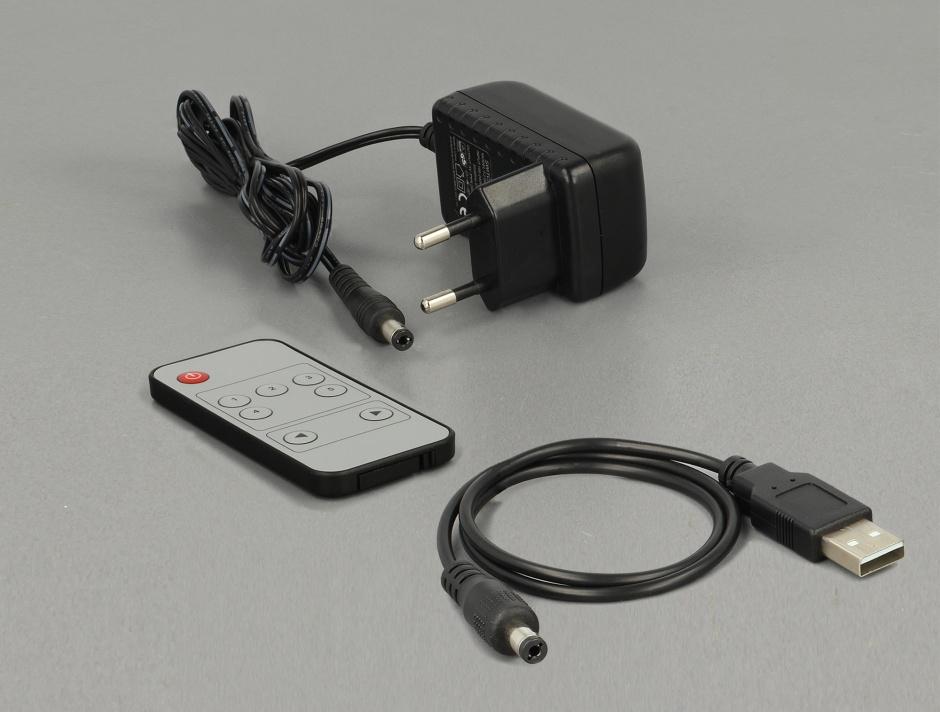 Imagine Switch HDMI 5 porturi cu telecomanda UHD 4K, Delock 18685