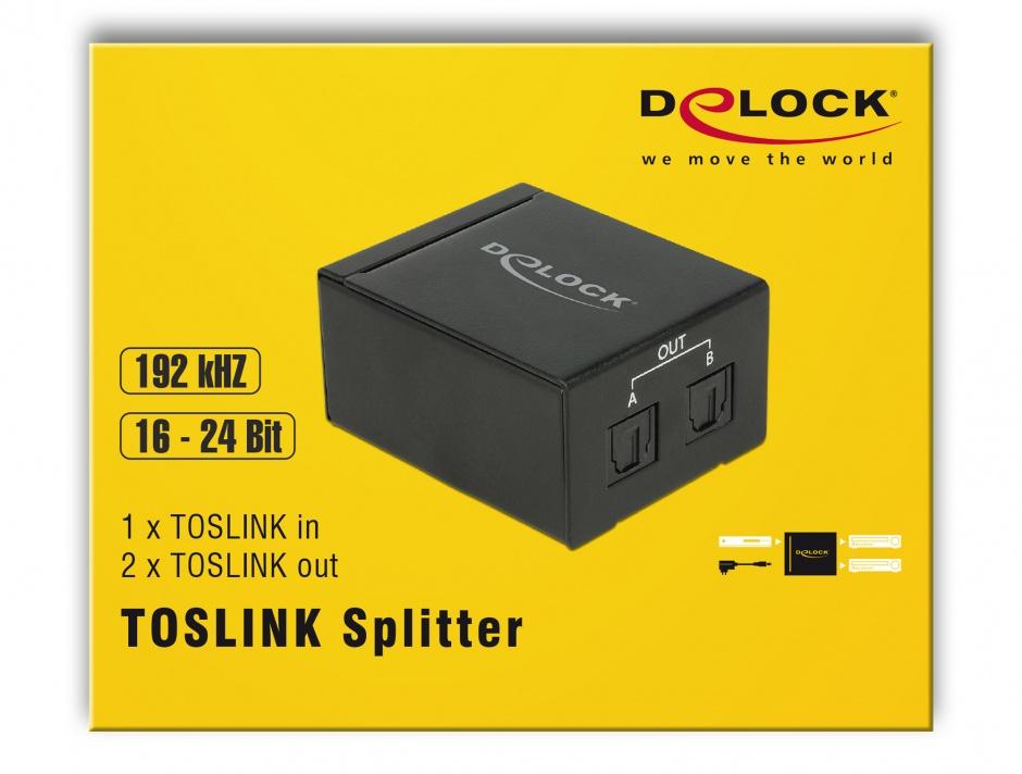 Imagine Multiplicator/Splitter Toslink S/PDIF la 2 x Toslink S/PDIF, Delock 18766