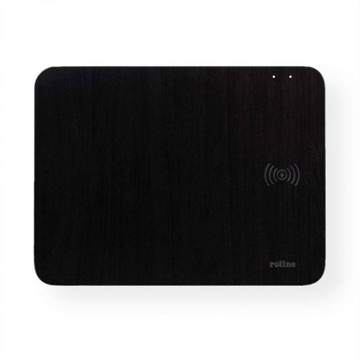 Imagine Mouse pad cu incarcare wireless 10W Negru, Roline 19.11.1014
