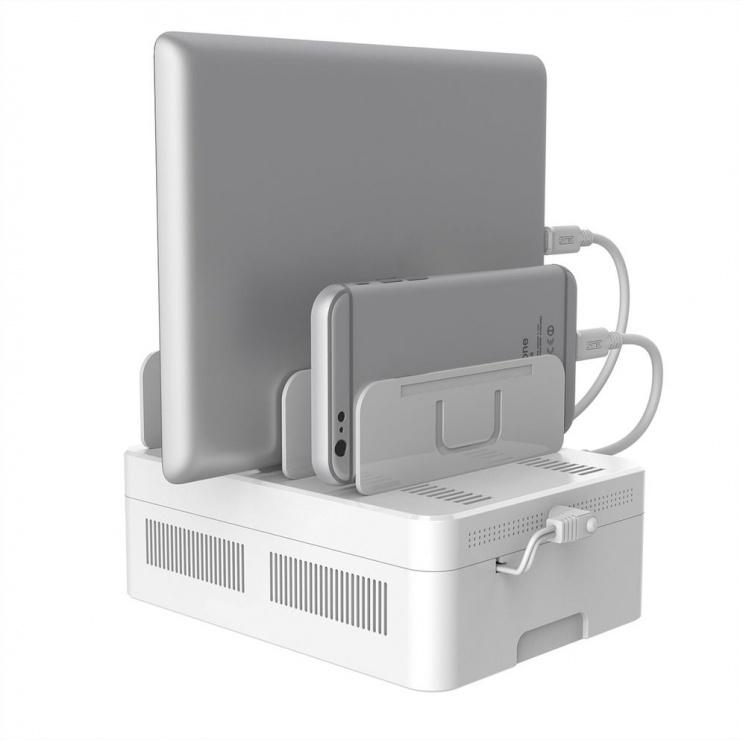 Imagine Statie de incarcare (Incarcator priza) cu 5 porturi USB + 1 x Quick Charge 3.0+ 1 x USB-C, Value 19.