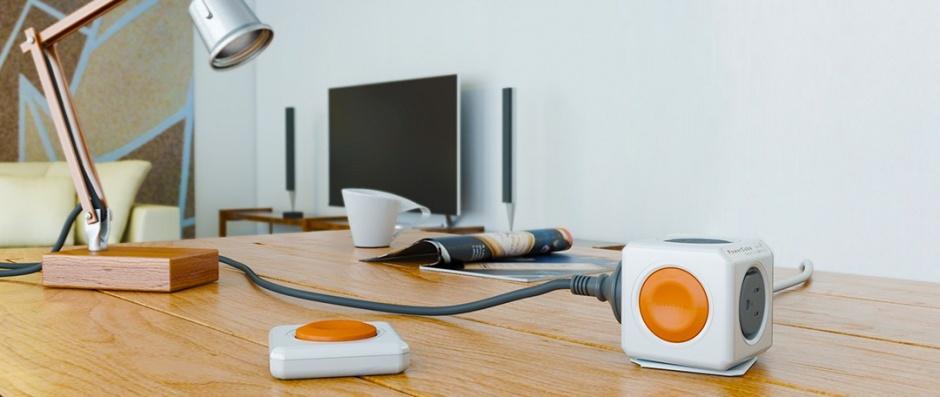 Imagine Prelungitor in forma de cub PowerCube Remote 4 prize 1.5m cu Switch, Allocacoc-2