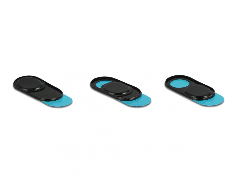 Imagine Set 3 bucati protectii camera pentru laptop/ smartphone/ tableta, Delock 20652